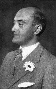 Schumpeter retratado numa foto.